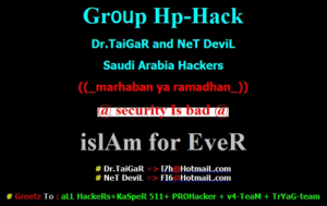 Example of hacked website