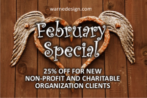 February special for new non-profit and charitable organizations